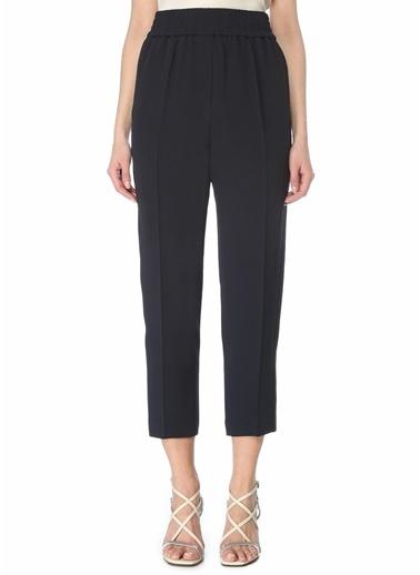 Brunello Cucinelli Brunello Cucinelli 101614055 Yüksek Bel Lastik Detaylı 4 Cepli  Kadın Pantolon Lacivert